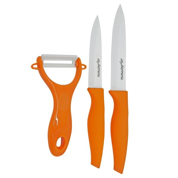Ножове к-т LF FR-1729C, 3 ч, оранжев