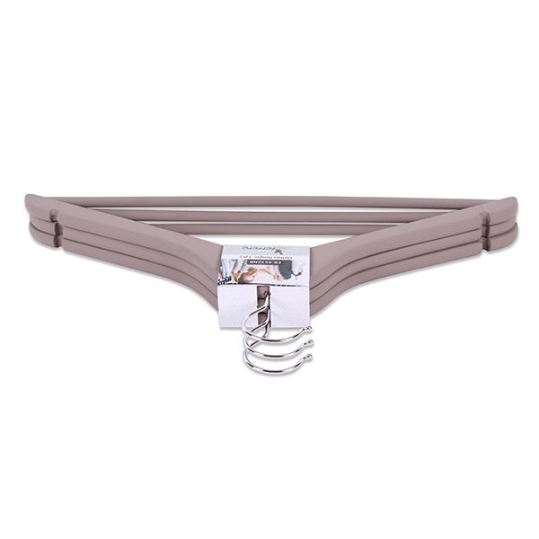 Закачалки за дрехи FR-4532NB, 3 бр.кафяво