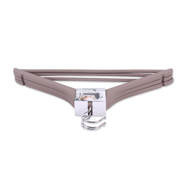 Закачалки за дрехи Luigi Ferrero FR-4532NBC 3 броя, кафяви